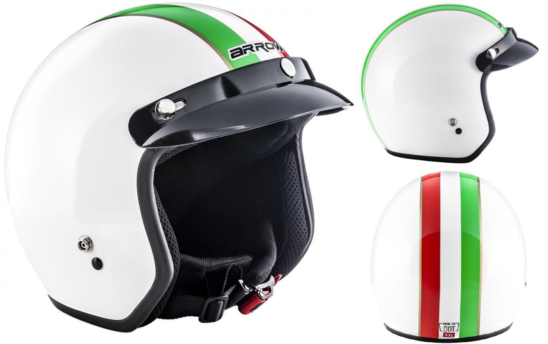 arrow av 47 italy casque jet vespa pilot moto helmet xs s. Black Bedroom Furniture Sets. Home Design Ideas