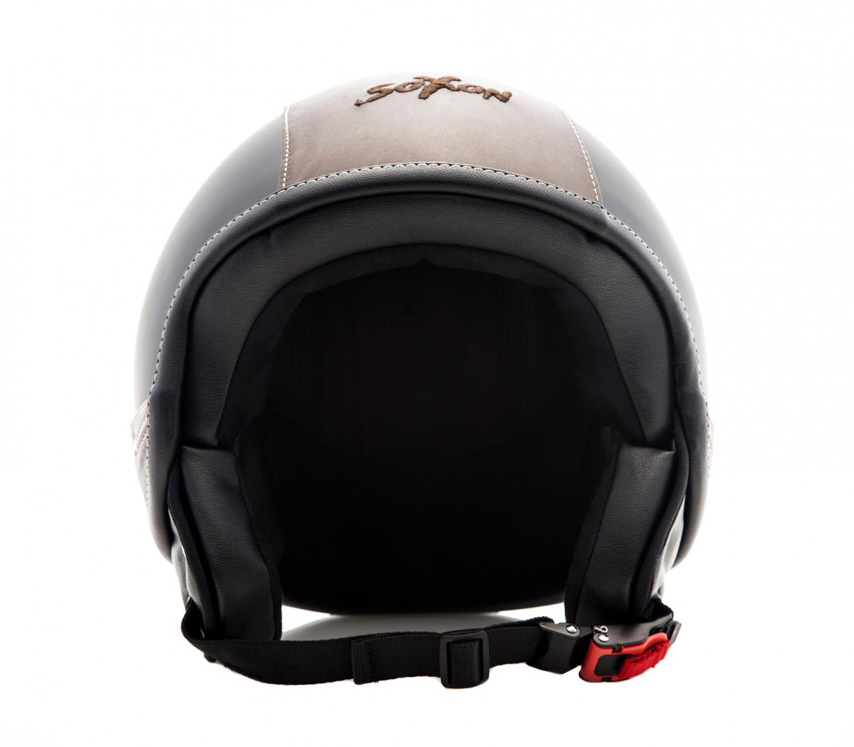soxon sp 301 urban black casque jet vespa moto scooter. Black Bedroom Furniture Sets. Home Design Ideas