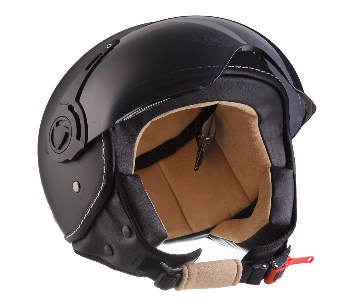 moto h44 matt b jet helm motorrad helm roller helm retro. Black Bedroom Furniture Sets. Home Design Ideas