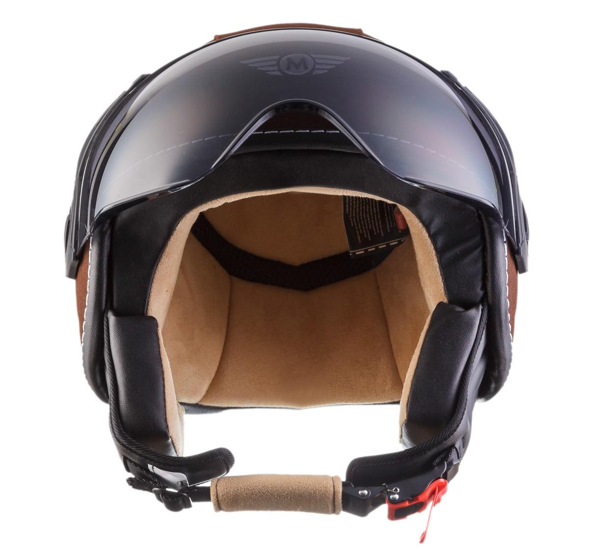jet helm leder helm roller helm motorrad helm moto h44. Black Bedroom Furniture Sets. Home Design Ideas